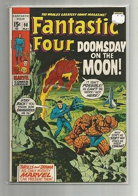 Fantastic Four 98 Fn-  Neil Armstrong Moon Landing Issue 1970