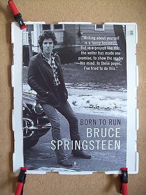 Bruce Springsteen Born To Run bookstore promotional poster. REPRINT OF ORIGINAL