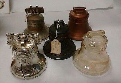Set of 5 Liberty Bell Coin Banks