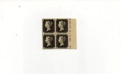 (W33)  Penny Black Reproductions In Block Of 4 See Scan