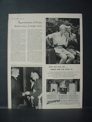 1951 Zippo Lighter When one Zip does it Vintage Ad 11476