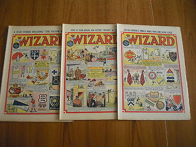 3 x WIZARD COMICS FROM FEBRUARY 1953