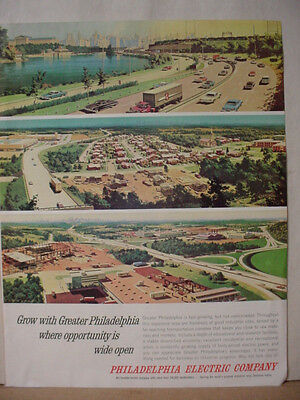 1964 Philadelphia Electric Company Opportunity Wide Open Vintage Print Ad 10394