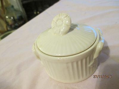 "Little Royal Creamware ""Occasions"" Lidded Pot"