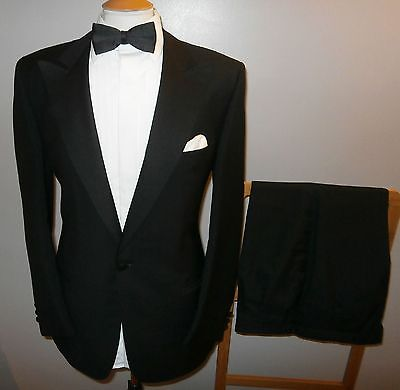 Mens 42R Wool Mohair Tuxedo Evening Dinner Wedding Suit Jacket Trousers W36 L30