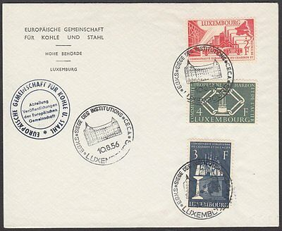 Luxembourg, 1956 Coal & Steel Illustrated FDC. Special CECA H.Q. H/S. SCARCE