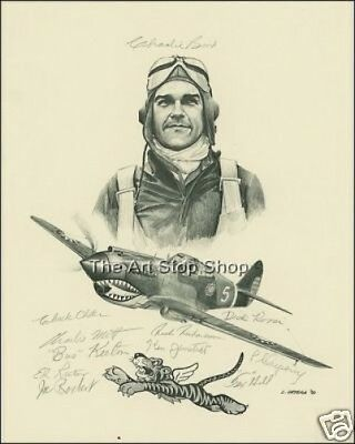 Hand Signed Flying Tigers Crew   Autograph Reprint