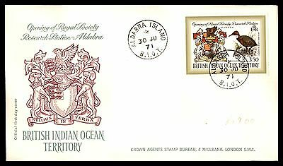 British Indian Ocean Territory 1971 research Station FDC