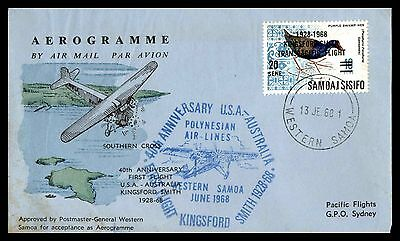 Western Samoa 1968 Pacific Flight Aerogramme