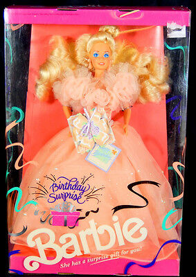 Nib Barbie Dolls 1991 Birthday Surprise