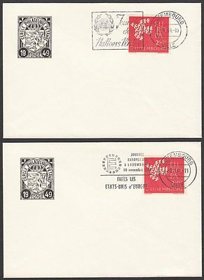 Luxembourg, 1961 Event Covers x 2. Ville Slogan Cancellations