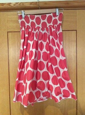 Lovely Mini Boden Skirt White With Coral 11-12 Yrs