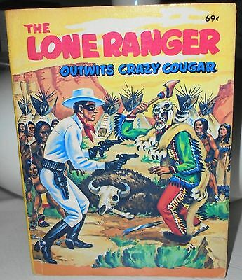 1968 Lone Ranger Outwits Crazy Cougar - Big Little Book