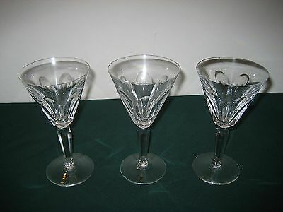 Waterford Sheila Pattern - 3 Wine Glasses