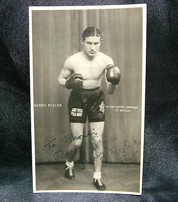 Signed Autographed Boxing Photograph Postcard Harry Mizler British Champ -Lot 21
