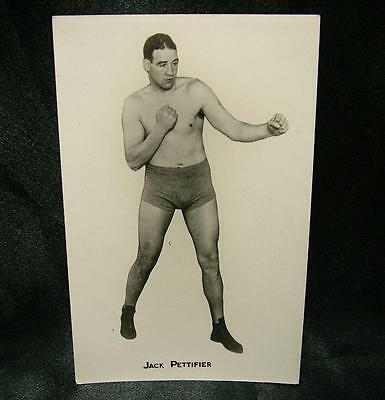 OLD BOXING REAL PHOTOGRAPH POSTCARD JACK PETTIFIER 1930's / 40's - LOT 43