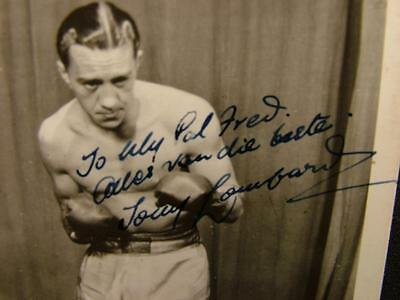 Original Signed Autographed Boxing Photograph Unidentified Signatures - Lot 49