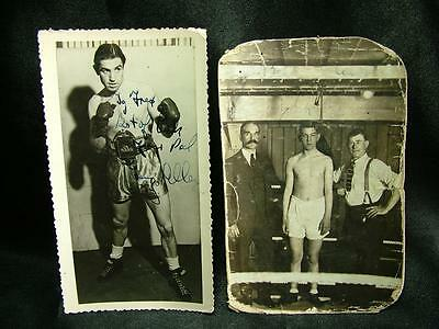 ORIGINAL SIGNED AUTOGRAPHED BOXING PHOTOGRAPH 2 x UNIDENTIFIED SIGNATURES LOT 50
