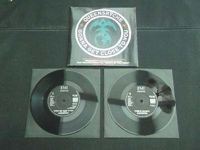 "Queensryche Gonna Get Close To You 1986 Uk 2 X 7"" Vinyl Record Single Ex/ex"