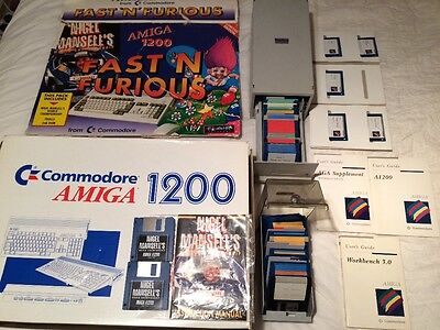 Boxed Commodore Amiga 1200 A1200 With Scart Lead Mouse Joystick & Disks