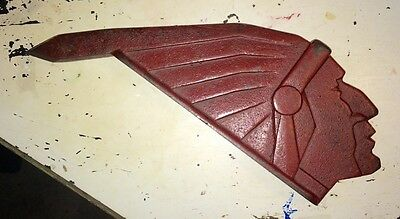 Rare 1930s Cast Indian Head, Possibility Indian Motorcycle,