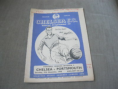 CHELSEA v PORTSMOUTH 25/12/48 , FOOTBALL LEAGUE DIVISION 1