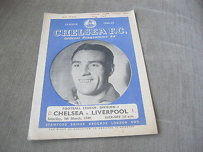 CHELSEA v LIVERPOOL 5/3/49 , FOOTBALL LEAGUE DIVISION 1