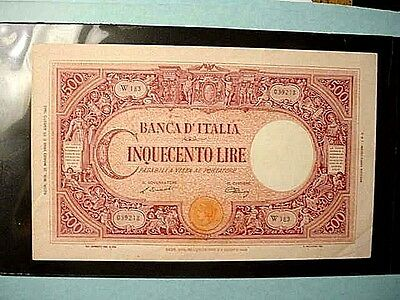 Italy 1946 500 Lire Large Size Banknote (Very Nice) Pick#70d