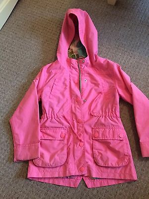 Girls Pink Next Raincoat Age 7-8 Years