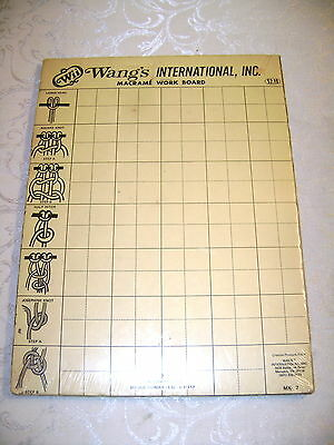 Vintage Wang's International  Macrame Work Board Knot Illustrations Grid MX-7