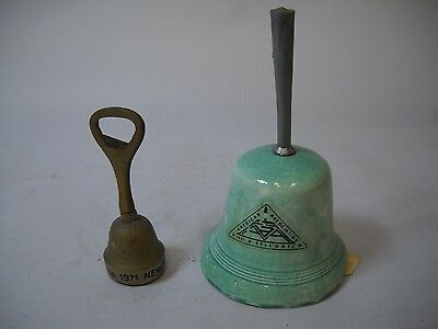 AMERICAN BELL ASSOCATION Vintage BELLS 1 GREEN Ceramic 1 Small BRASS from NYC