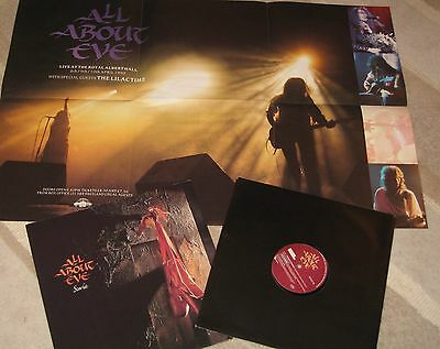 "All About Eve - Scarlet 12"" Vinyl Single + Large Poster - First Pressing"