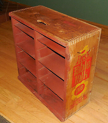 Antique Table Talk Pie Wooden Crate Country Store  Display - Dunning -Nov. 1971