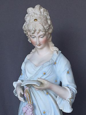 Gorgeous! Lg German French Antique Bisque Statue Lady Dresden Figurine Figure