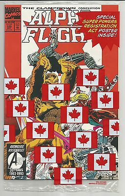 Alpha Flight #120 (1993) - Includes Superpowers Registration Act Poster