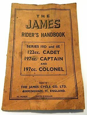 Old Vintage, The James Riders Handbook, Series 10D & 6E
