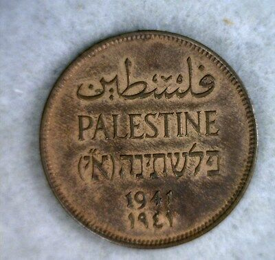 PALESTINE 2 MILS 1941 ABOUT UNCIRCULATED (stock# 0072)