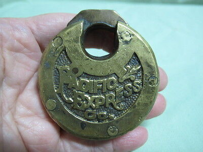 BRASS PAD LOCK  Pacific Express Co