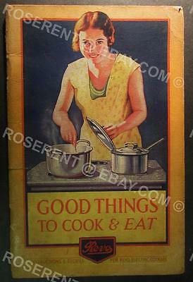 1934 REVO Electic Cookers - Instructions & Recipes -  Cook Book