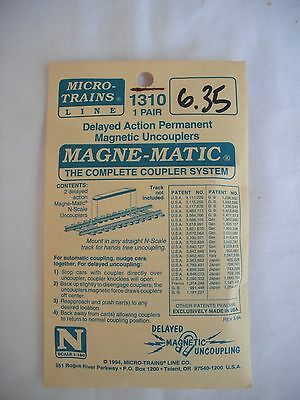 Micro Trains Line MTL 1310, Delayed Action Magnetic Uncouplers, 1 Pair, N Scale