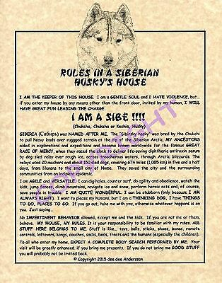 Rules In A Siberian Husky's House
