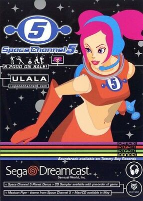Rare Busty SEXY GIRL Space Channel 5 Postcard Sega Dreamcast Dancing Shooting