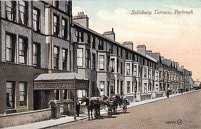 c northern ireland postcard irish antrim portrush salisbury terrace