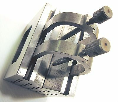 "Machinist V-Block with (2) Two Clamps 4"" x 3"" x 3"""