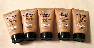 5 Sally Hansen Smooth-On Airbrush Legs Lt. Makeup 0.75 Oz.ea.lot Of 5 Free Ship