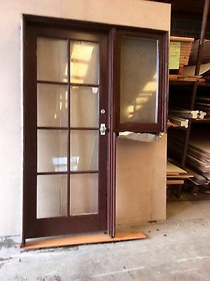 French Door And Frame With Small Window