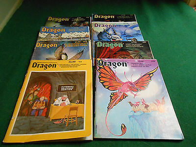 8 DRAGON MAGAZINES DUNGEONS & DRAGONS Role-Playing Aid