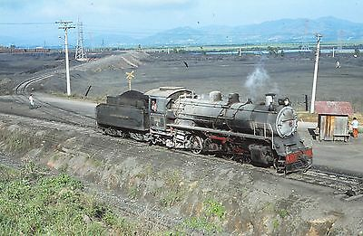ORIGINAL 35mm RAILWAY SLIDE, BRAZIL STEAM LOCOMOTIVE,  Loco 4