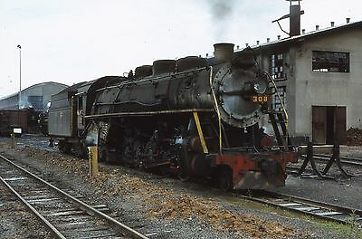 ORIGINAL 35mm RAILWAY SLIDE, BRAZIL STEAM LOCOMOTIVE,  Loco 308
