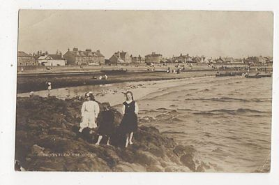 Troon From The Rocks Vintage RP Postcard  172a
